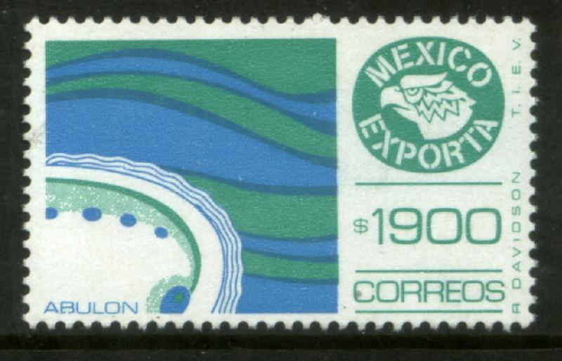 MEXICO Exporta 1597 $1900P Abalone Fluo Paper 10 NH (Scarce)
