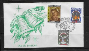 DOMINICAN REPUBLIC STAMPS,COVER FELIZ NAVIDAD  1976 #F27