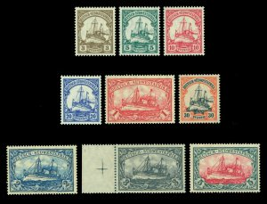 German Colonies -SOUTH WEST AFRICA 1906-19 Kaiser's YACHT set Sc# 26-34 mint MNH