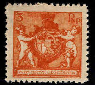 LIECHTENSTEIN Scott 56 MH* stamp