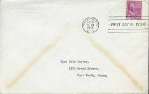 #831 ON FDC JAMES FARLEY W/ AUTOGRAPH LTR SIGNED BM7889