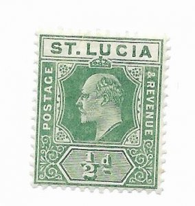 St. Lucia #57 MH - Stamp - CAT VALUE $2.00