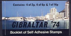 Gibraltar 309a Booklet MNH Mailboxes