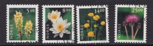 Norway   #1244-1247   cancelled  2000  flowers
