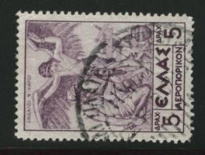GREECE Scott C24 used 1935 Airmail stamp