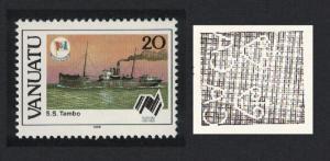 Vanuatu Freighter 'Tambo' Ship 1v 20vatu Watermark variety SG#496w
