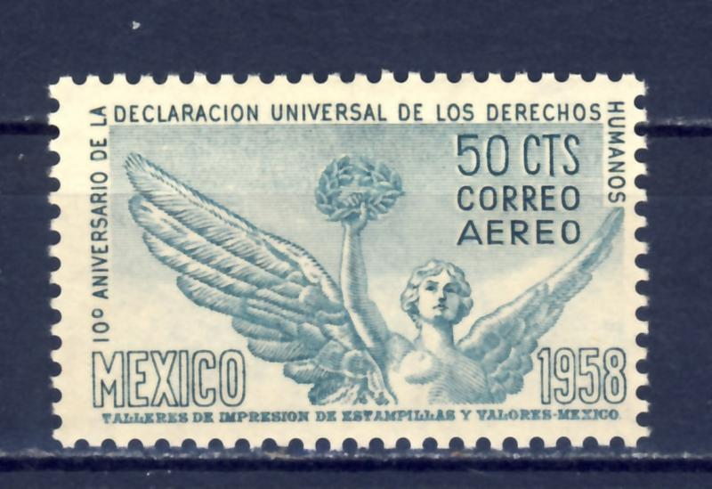 MEXICO - 1958 #C245 Unused NH NG Human Rights Angel