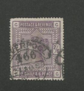 1883 Great Britain Stamp #96 2sh6p Used Very Fine Liverpool Postal Cancel
