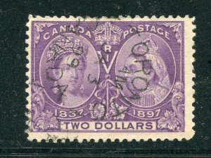Canada #62  used  with scarce  CDS  rare   - Lakeshore Philatelics