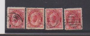 CANADA QUEEN VICTORIA -MAPLE LEAF ISSUE #69 STAMPS USED  LOT#309