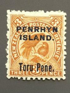 Penrhyn Is. 10 F-VF MH. Scott $ 11.50
