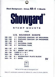 SHOWGARD GROUP AB (11) BLACK MOUNTS RETAIL PRICE $8.75