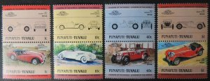 Funafati-Tuvalu 1984 classic cars vintage transport 8v transport MNH