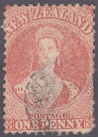 NEW ZEALAND 1864 Chalon 1d perf 12½ fine used SG111..........................615