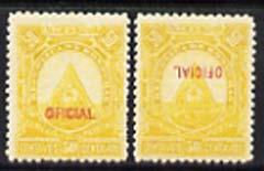 Honduras 1890 Official 50c yellow two mounted mint exampl...