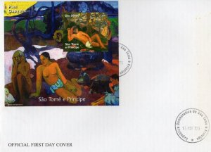 Sao Tome and Principe 2005 PAUL GAUGUIN Nudes Paintings s/s Imperforated in FDC