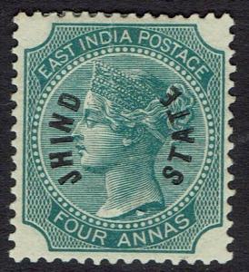 JIND STATE 1885 QV 4A VERTICAL OVERPRINT