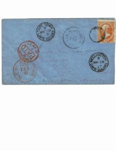 Scott #163 Ave/Fine-On cover. SCV - $340.00