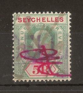 Seychelles 1906 5R Revenue