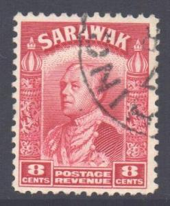 Sarawak Scott 119 - SG112a, 1934 Sir Charles Vyner Brooke 8c Red used