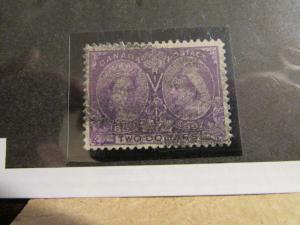 CANADA Scott #62 $2 1897 Diamond Jubilee stamp, fine - very fine + 102 card