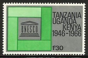 Kenya, Uganda & Tanzania 1966 Scott# 170 MH (gum disturbance)