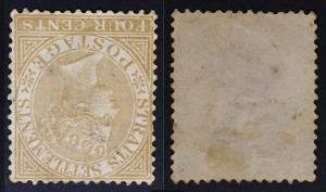 Malaya Straits Settlements INVERTED wmk QV 1883 4c Used CCA SG#64w CV£180 M1774