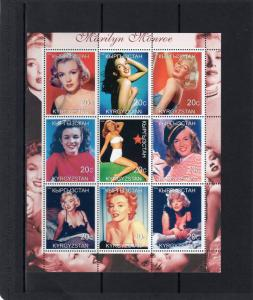 Kyrgyzstan 2000 MARILYN MONROE Early Pictures Sheetlet (9) MNH VF