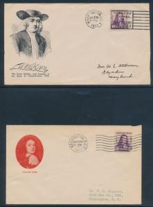 #724 PENN STOUTZENBERG & GORHAM CACHETS WASH DC OCT 25,1932 CV $50 BU2400