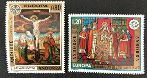 Andorra(FR) 1975 #236-7 MNH-Gum Disturbance, CV $14.50