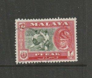Malaya Perak 1957/61 $2 P13 x 12.5 Used SG 160a