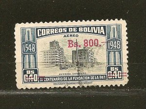 Bolivia C192 Surcharged Airmail Used