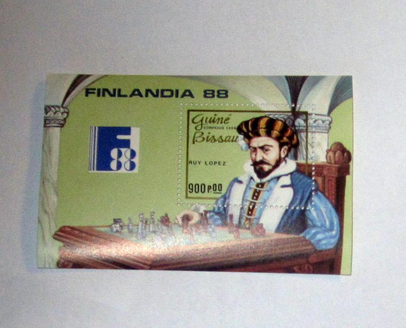 Guinea Bissau - 741 MNH S/S. Ruy Lopez, Chess. SCV - $7.00