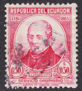 Ecuador Scott 486 F+ used.