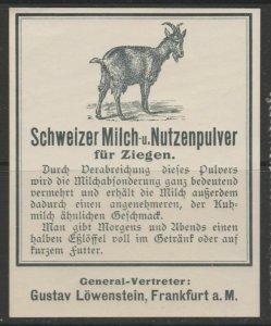 Switzerland Swiss Goat Milk Cinderella Poster Stamp Reklamemarken A7P5F847