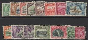 TRINIDAD & TOBAGO SG246/56(inc SG252) 1938-44 DEFINITIVE SET COMPLETE FINE USED
