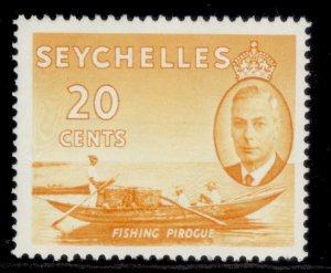 SEYCHELLES GVI SG163, 20c orange-yellow, LH MINT.