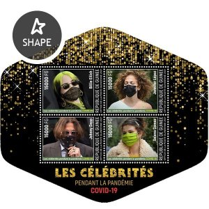 GUINEA - 2021 -Celebrities during COVID-19 - Perf 4v Sheet - Mint Never Hinged