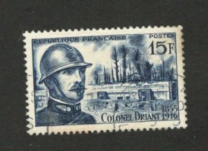 FRANCE-USED STAMP-COLONEL DRIANT - 1956.