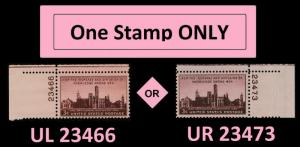 US 943 Smithsonian Institution 3c plate single MNH 1946