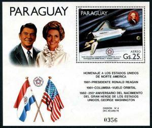 HERRICKSTAMP PARAGUAY Sc.# C491 NH Space Stamp S/S