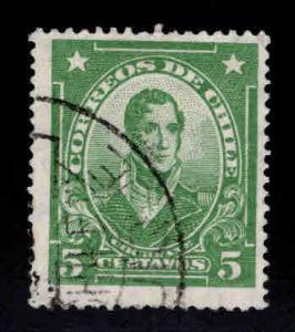 Chile Scott 163 Used light green stamp