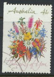 SG 1230  SC# 1164a left margin imperf  Used  Wildflowers perf 14