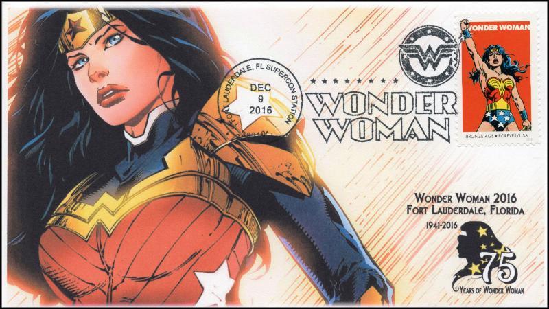 16-382, 2016, Wonder Woman, Supercon, Pictorial Cancel, Fort Lauderdale FL