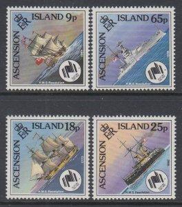 Ascension 445-448 Ships MNH VF