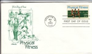 1983, Physical Fitness, Artmaster, FDC (D13425)