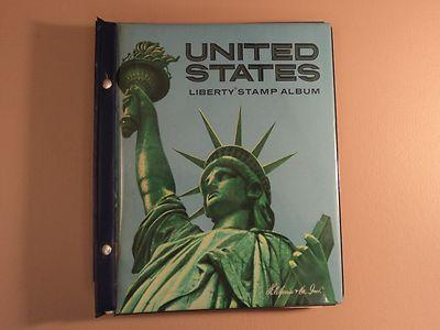 USPS Liberty Stamp Album Close To 1000 Used Stamps