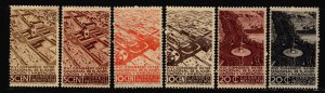 Mexico 1938 Scenes Stamp Short set  6 Stamps Scott 740-5  MH (09 Cat $69)