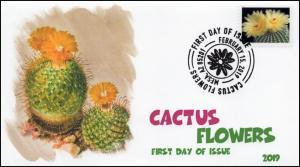 19-052, 2019, Cactus Flowers, Pictorial Postmark, FDC,