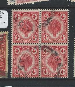 MALAYA KEDAH  (P0410B) LEAF 4C  SG 21 BL OF 4  VFU